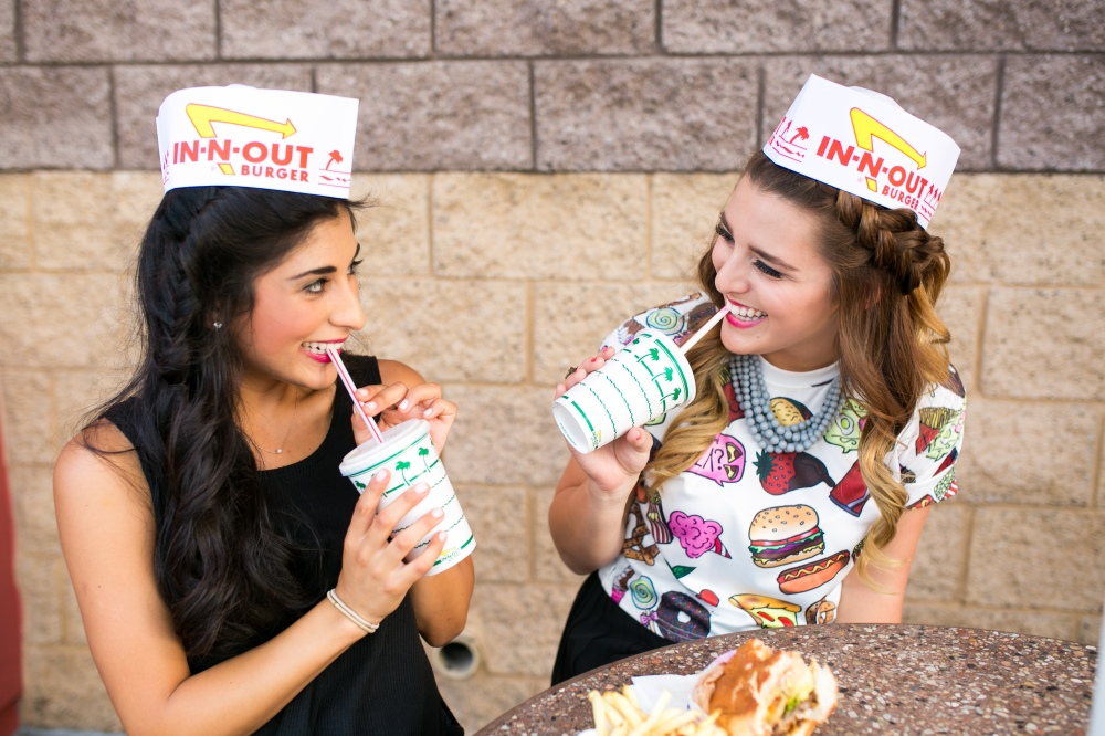 Food inspired styled shoot with In n Out, donuts and ice cream with Audree from Simply Audree Kate in Tempe and Scottsdale, Arizona.